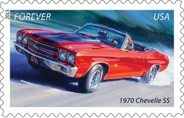 1970 Chevrolet Chevelle SS red vert 24X36 inch poster, sports car, muscle car - $18.99
