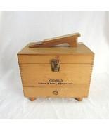 Ronson Roto Shine Magnetic Shoe Polishing Dove Tail Wooden Box w/ Accessories - $26.40