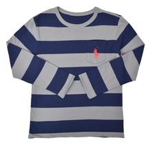 Polo Ralph Lauren Boys Grey Blue L/S Reversible Shirt Medium  M 10-12 95... - $33.65