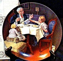 "1984 ""The Gourmet"" by Norman Rockwell Plate with Box ( Knowles ) AA20-CP2282 Vin image 1"