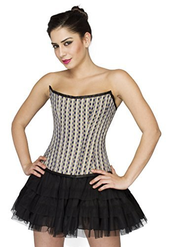 Primary image for Printed Polyester Gothic Corset Burlesque Waist Training Costume Basque Overbust