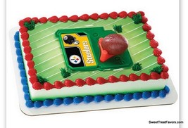 Pittsburgh Steelers Football NFL Cake Topper Decoration Supplies Cupcake... - $12.82
