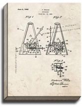 Metronome Patent Print Old Look on Canvas - $39.95+