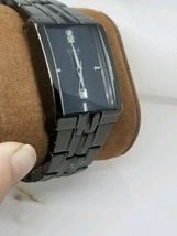 Vintage Mens Luxe Diamond / Date Dress Watch New Battery Works image 4