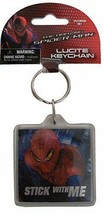 The Amazing SpiderMan Keychain Stick With Me Lucite Foil Marvel Comics New  - $7.91