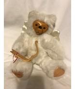 Robert Raikes Wooden Bear Cupid Angel Wood Face Now And Arrow Love Appla... - $37.61
