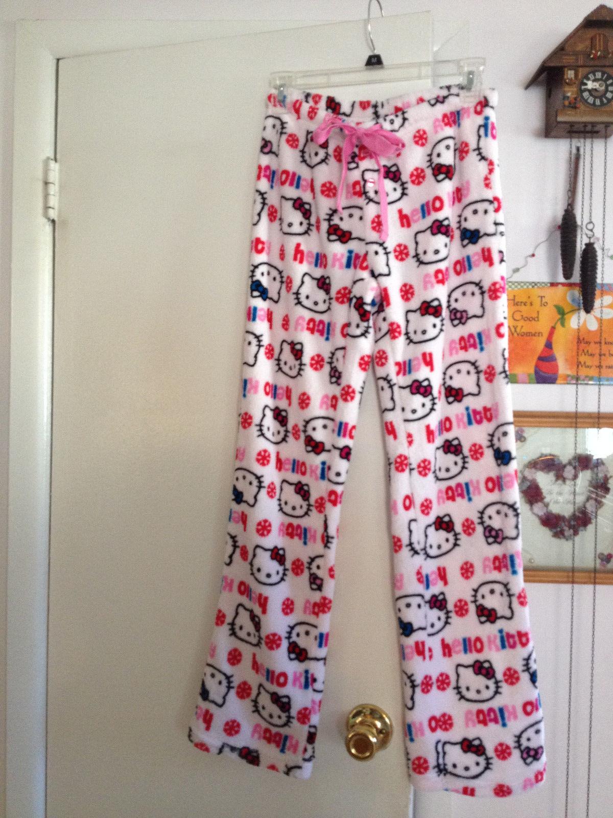 54c7ccdfd Girls Hello Kitty Soft Plush Fleece Snowflake Lounge Pants Sleepwear Small  Cute