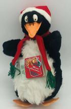 NWT Fiesta Toy Christmas Plush Penguin in Santa Hat Cap Scarf Stuffed An... - $19.79