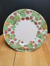 Royal Stafford Wildberry Dinner Plate 11 Inch Strawberries & Green Leaves - $11.39