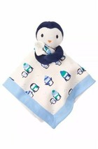 Gymboree Blue Penguin Baby Essentials Blanket Plush Security Lovey 2016 NEW - $79.19