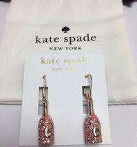 Kate Spade New York Rose Gold Tone Make Magic Champagne Drop Earrings W/... - $55.99
