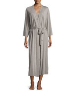 NWT New Natori Brown Heather Robe Womens S Long Very Soft Solid Modal Po... - $156.00