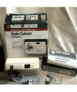 Black & Decker Under Cabinet Space Saver Can Opener EC59D w/ Bracket - W... - $49.99