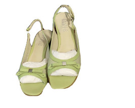 """Franco Sarto Women's Shoes Leather Made In Brazil  Size 5.5 Open Toe 2.5"""" Heels - $25.51"""