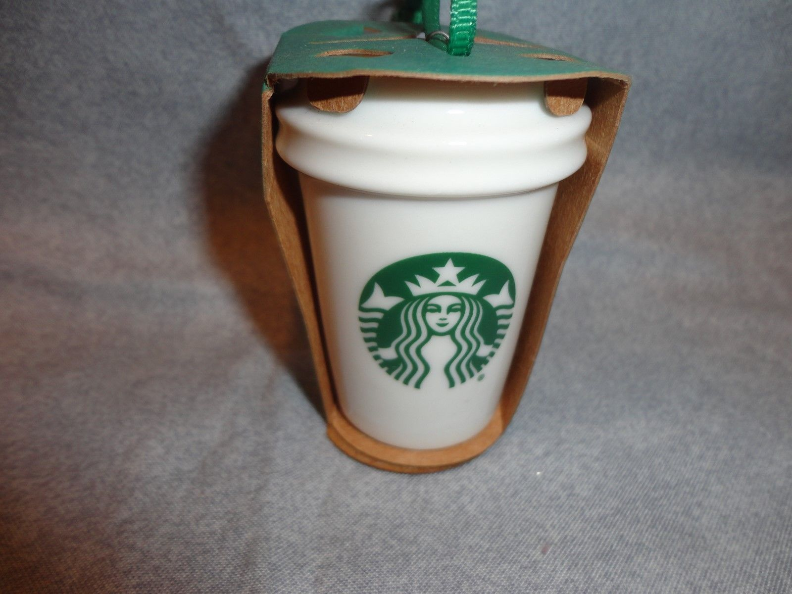STARBUCKS 2016 GREEN MERMAID CUP TO GO CUP ORNAMENT CERAMIC NEW GRN packag