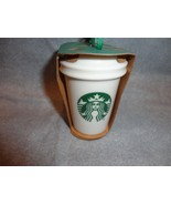 STARBUCKS 2016 GREEN MERMAID CUP TO GO CUP ORNAMENT CERAMIC NEW GRN packag - $13.81