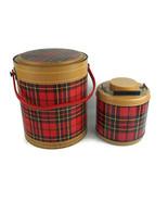 Vintage Hamilton The Scotch Kooler 4 Gallon Red Plaid w/ Matching 1 Gal Jug - $168.27