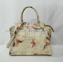NWT Brahmin Priscilla Satchel/Shoulder Bag in Oasis Melbourne Multi-color - $385.00