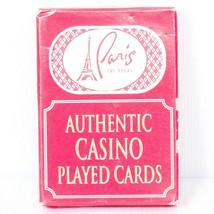 Paris Las Vegas Authentic Casino Played Cards Red Sealed 1 Deck - $5.80