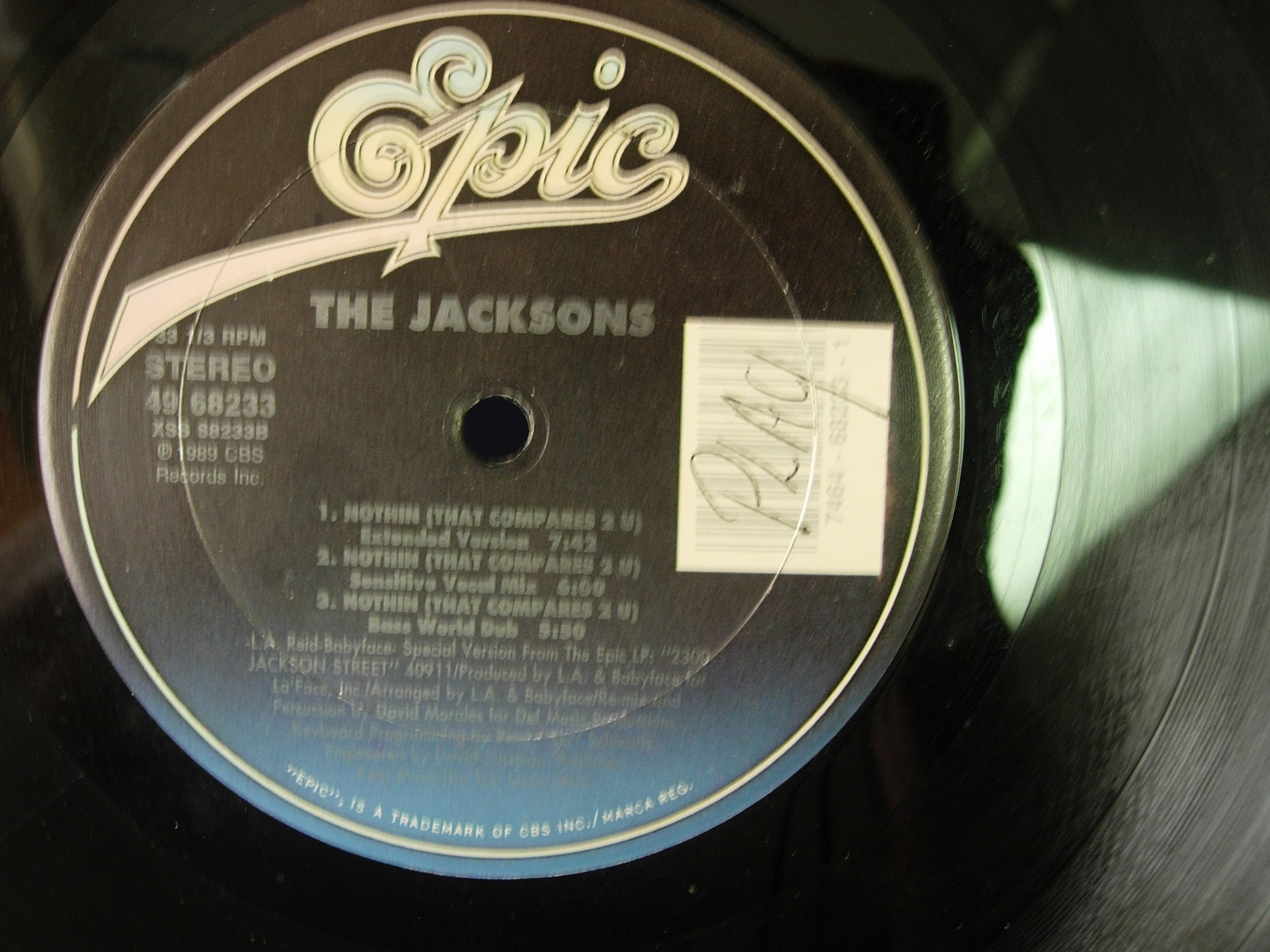 The Jacksons - Nothin (That Compares 2 U) - Epic 49 68233