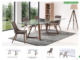 ESF  8811 Oak Retro Dining Table w/ Extension 941 Chairs Set 7Pcs Made in Italy