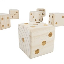 Hey! Play! 80-ZS-GYY01 Giant Wooden yd Dice Outdoor Lawn Game, 6 Playing... - $33.85