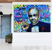 "Alec Monopoly Banksy Print on Canvas Graffiti art The Godfather 12x16"" - $19.29"