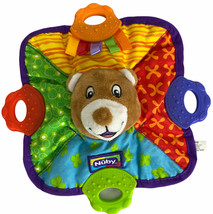 Nuby Comfort Teether Bear Teething Blanket Brown Bear Teether - $8.79