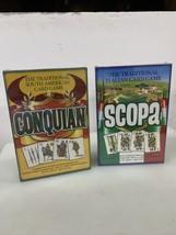 CONQUIAN ~ South american & SCOPA ~ Italian Card Games , Both New - $25.96