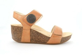 Abeo Una Wedges Sandals Stone Women's Size US 8 Neutral Footbed - $99.74