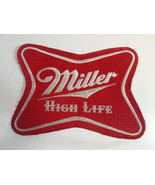 """USED VINTAGE Miller High Life Beer Patch Jacket Coat Shirt 8"""" by 6"""" - $7.50"""