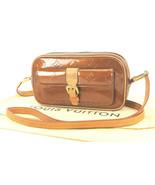Authentic LOUIS VUITTON Christie MM Bronze Vernis Leather Shoulder Bag #... - $445.50