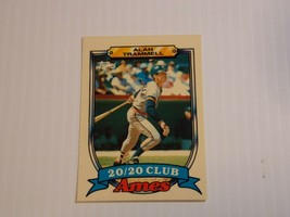1989 Topps Ames Alan Trammell 20/20 Club Baseball Card #29 Detroit Tigers - $0.99