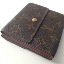 Louis Vuitton Mono Brown Elise Compact Tri-Fold Wallet 4in x 4in (SP0943) - $189.95