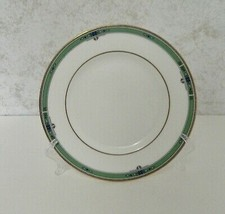 Wedgwood Bone China Made in England Bread & Butter Plate Jade Pattern Green Trim - $12.75