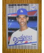 1989 Fleer Ramon Martinez Baseball Card (NM) - $1.00
