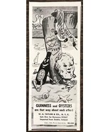 1940 Guinness Stout Print Ad Guinness & Oysters Adorable Cartoon Art - $8.95