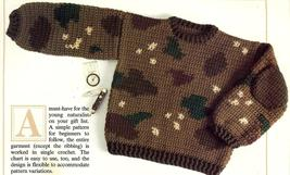 Childs Camouflage Sweater Crochet Pattern - $1.99