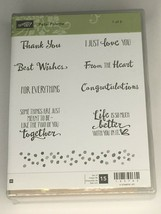Stampin Up Petal Palette Rubber Stamp Set #1 Words Sayings Thank You Lov... - $19.99