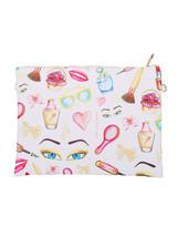 Large Vinyl Envelope Clutch Purse Bag w/ Removable Shoulder Strap Cosmet... - $21.77