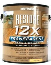 1 Can Rust-Oleum 122 Oz Restore 12X Transparent Light Cedar Stain & Seal... - $22.99