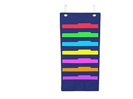 Hanging File Folder Holder Cascading Fabric Organizer- 7 Pocket Home Sch... - $64.06