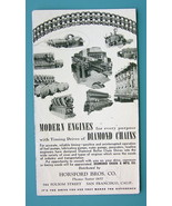 INK BLOTTER 1940s - Modern Engines Diamond Chains Horsford Bros California - $3.15