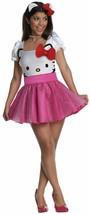 Hello Kitty Tutu Retro Secret Wishes Fancy Dress Up Halloween Sexy Adult Costume - $39.67