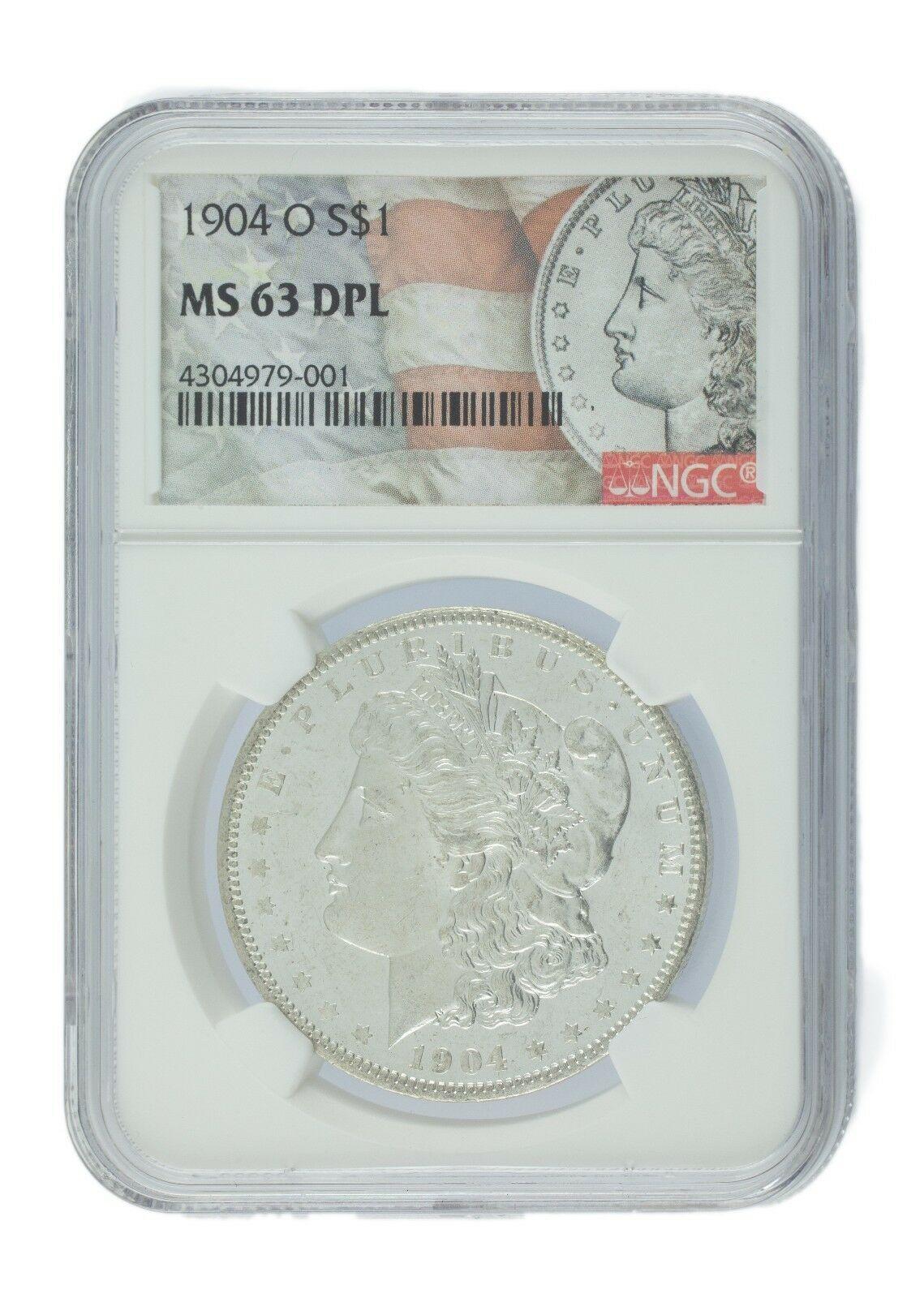 1904-O Argent Morgan Dollar Classé par NGC comme MS63 Dpl ! Superbe Finition