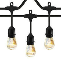 Classyke 48ft Indoor Outdoor String Lights for Patio Garden Yard Deck Ca... - €34,56 EUR