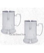2 TWO 20oz Stainless Steel Beer Drink Mug with Handle Stein Barware Bar ... - $43.89