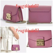 NWT $298 FURLA METROPOLIS crossbody leather azalea pink 993861 B mini ba... - $211.86