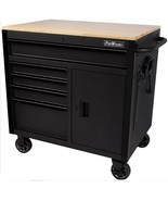 5 Drawer Rolling Workbench Tool chest Cart Cabinet Wooden Work Surface Storage  - $669.00