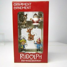 Rudolph The Red-Nose Reindeer 5pc Christmas Ornament Set by Kurt S Adler - $13.78